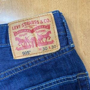 hand distressed vintage orange tag LEVIS shorts